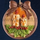 Christmas Candles Ornament silicone mold