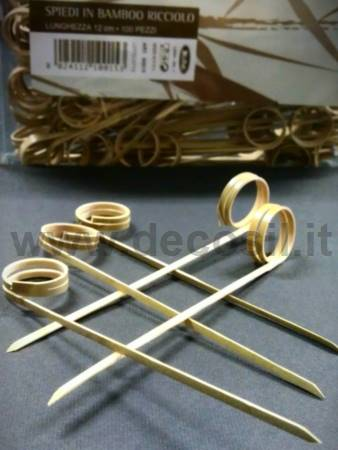 Curl Bamboo Skewers for decoStick lollipop silicone moulds
