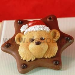 Teddy Bear Ornament chocolate mold