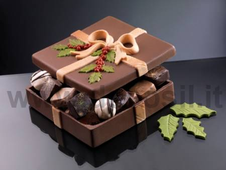 Square Box Christmas chocolate mold
