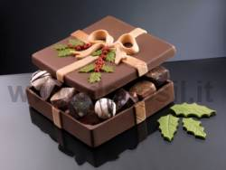 Square Box Christmas chocolate mould