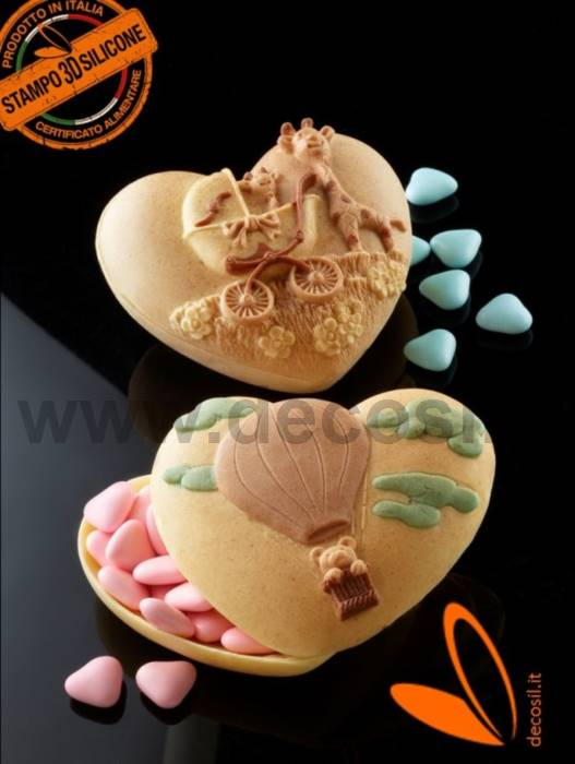 Heart Case with Giraffes mould