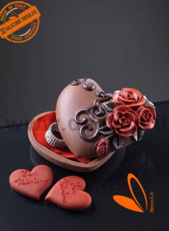 Heart case with Roses Mold