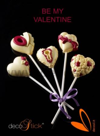 Hearts Love cake pops decoStick mold
