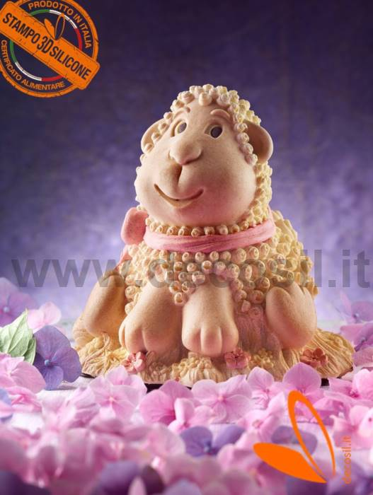 Lamb Chocolate Easter Bell LINEAGUSCIO Mold