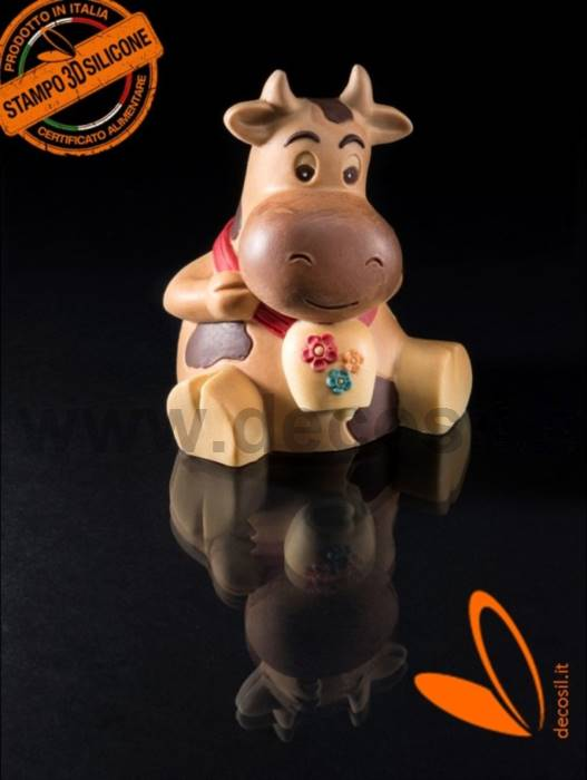Cow Mirca Chocolate Easter Bell LINEGUSCIO Mold