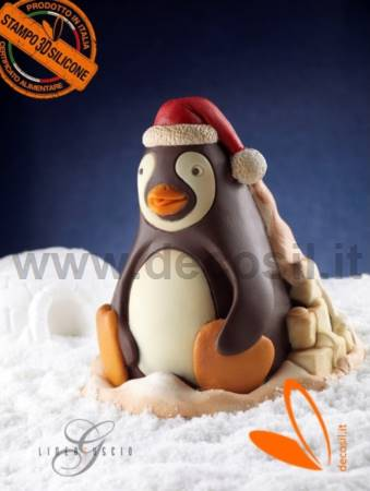 Penguin Chocolate Christmas Bell LINEAGUSCIO Mold