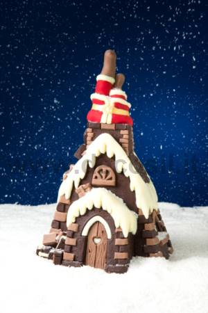 Santa Claus in chimney Chocolate Christmas Tree LINEAGUSCIO Mold