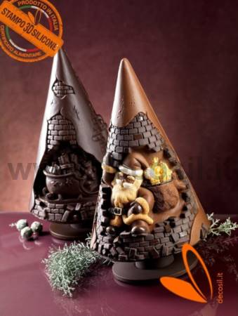 Santa Claus in Chimney chocolate christmas tree mould