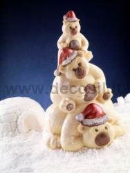 Bears Family - Chocolate christmas tree mold