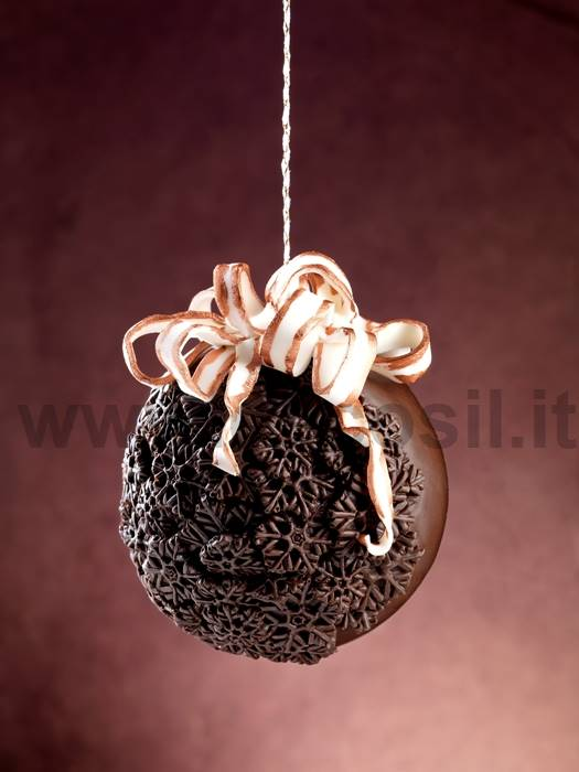 Snow Crystals Chocolate Christmas Ball LINEAGUSCIO Mold