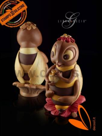 Bee Chocolate Easter Egg LINEAGUSCIO Mold
