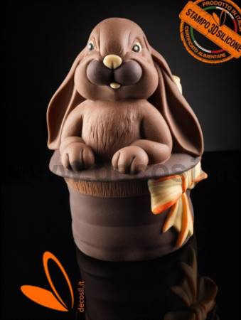 Bunny in the Magic Hat Chocolate Easter Egg LINEAGUSCIO Mold