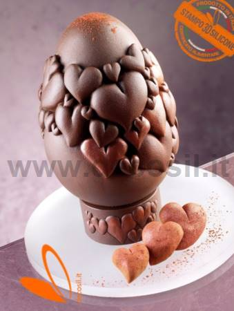 Hearts Chocolate Easter Egg Mold