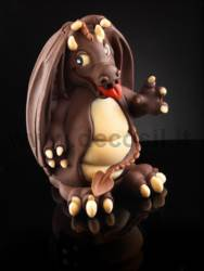 Small Dragon Chocolate Easter Egg Mould