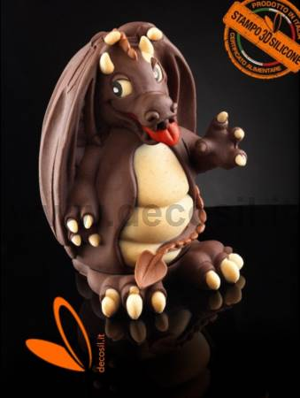 Small Dragon Chocolate Easter Egg LINEAGUSCIO Mold