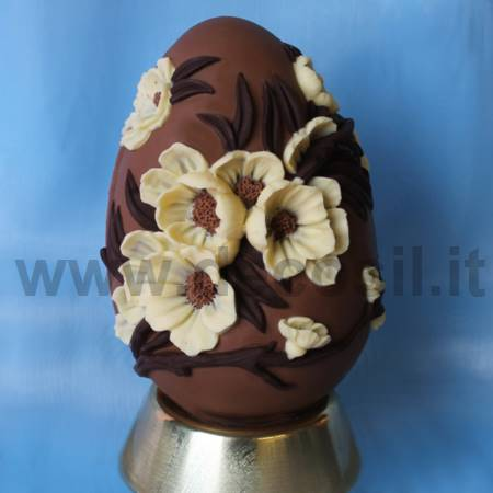 Peach Flowers  Chocolate Easter Egg Mould