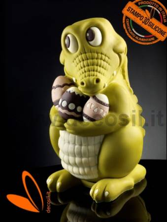 Crocodile Big Chocolate Easter Egg Mold