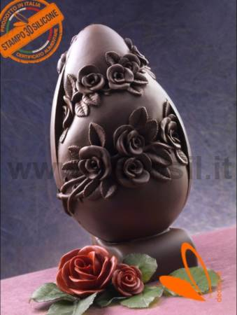 Rose Big Chocolate Easter Egg LINEAGUSCIO Mold