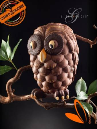 Owl Chocolate Easter Egg LINEAGUSCIO Mold