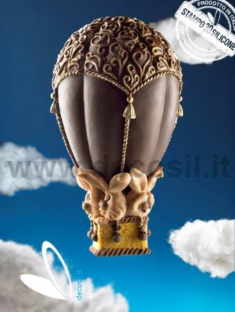 Hot-air balloon Chocolate Easter Egg LINEAGUSCIO Mold