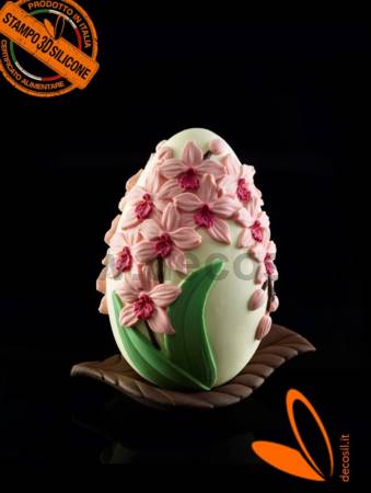 Orchids Chocolate Easter Egg LINEAGUSCIO Mold