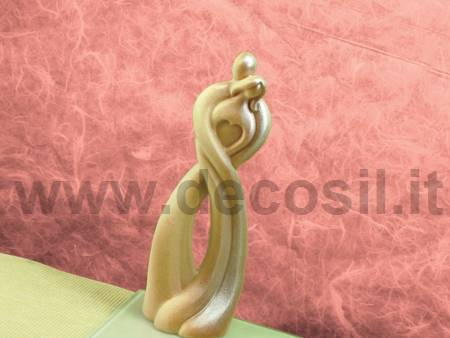 Stylized Couple Heart mold