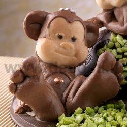 Monkey Sitting Chocolate Mould