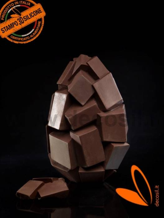 Cubes Chocolate Easter Egg LINEAGUSCIO Mold