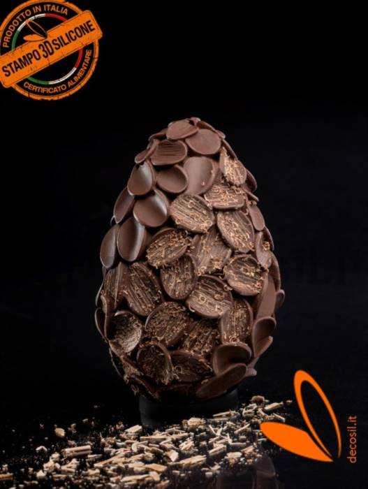 Flakes Chocolate Easter Egg LINEAGUSCIO Mold