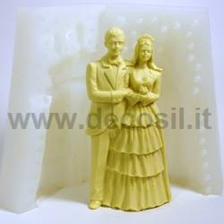 Bride and groom chocolate mould – Large size