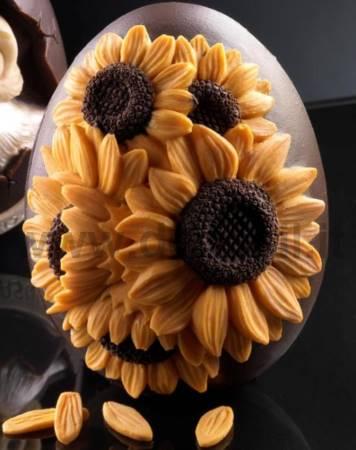 Medium Sunflowers Egg Mold