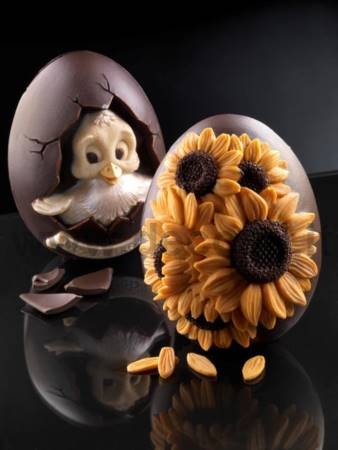 Medium Sunflowers Chocolate Egg Mold