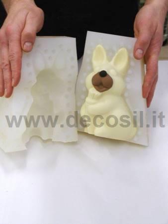 Stampo Coniglietto Toby Gianduiotto