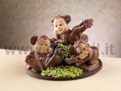 Monkey Sitting mold