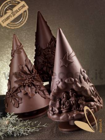Holly Chocolate Christmas Tree LINEAGUSCIO Mold