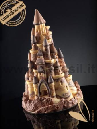 Castle Chocolate Christmas Tree LINEAGUSCIO Mold
