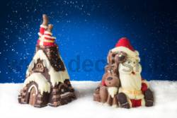 Santa Claus in chimney Pine Shell mold