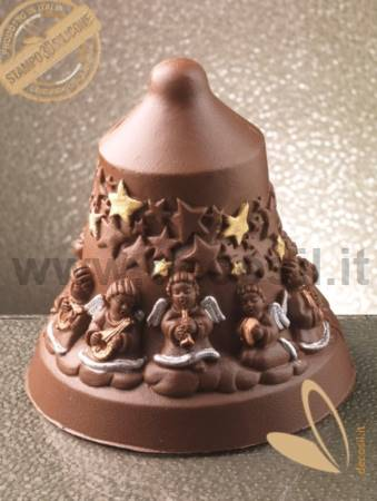 Angels Chocolate Christmas Bell LINEAGUSCIO Mold