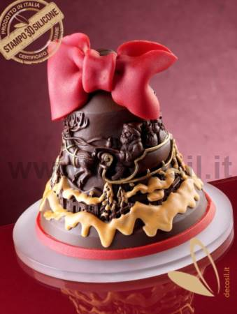 Santa Claus and Reindeers Chocolate Christmas Bell LINEAGUSCIO Mold