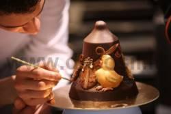 Moule Cloche en Chocolat Poussins
