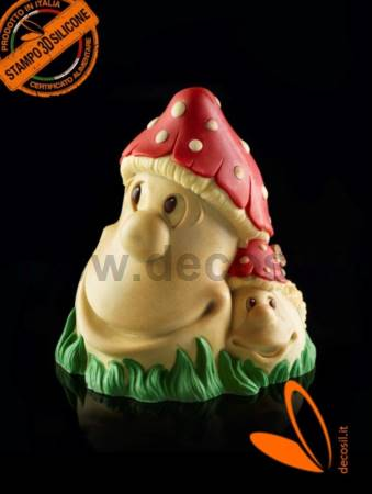 Mushrooms Chocolate Christmas Bell LINEAGUSCIO Mold