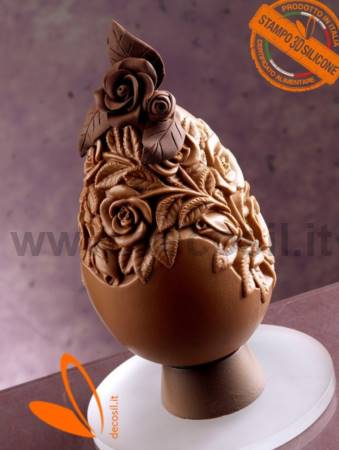 Rose Chocolate Easter Egg LINEAGUSCIO Mold