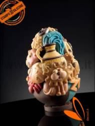 LINEAGUSCIO® Easter Zodiac Chocolate Easter Egg Mold