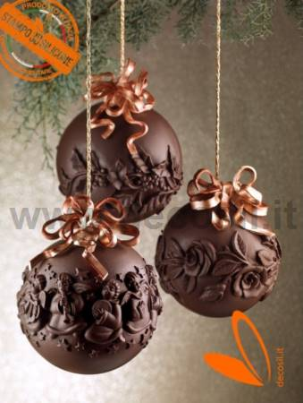 Roses Chocolate Christmas Ball LINEAGUSCIO Mold