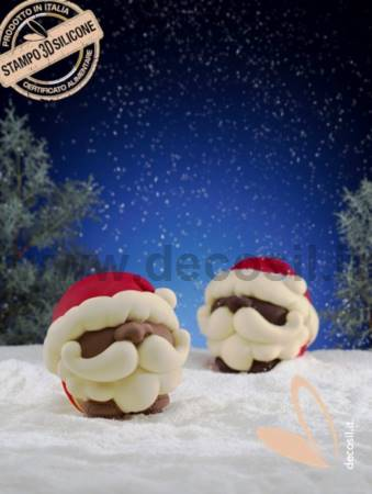 Santa Claus Chocolate Ball LINEAGUSCIO Mold