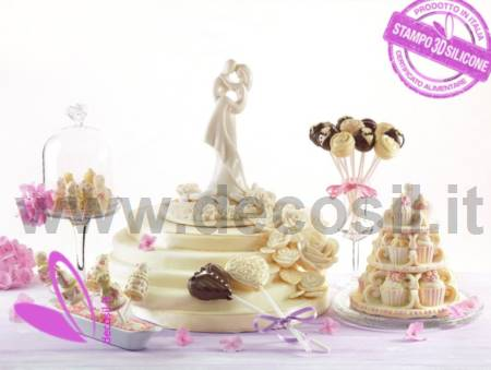 Hearts cake pops decoStick mould