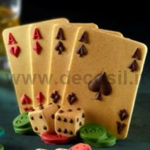 Stampo Poker d'Assi 3D