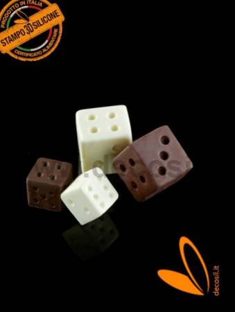 Small Dice game silicone mould