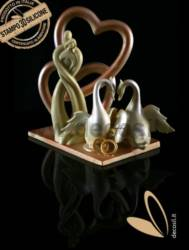 Stylized Couple Heart mold